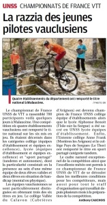 article la provence 03_06_16 France VTT