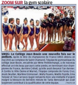 article la provence 15_06_16 championnat de france de gym