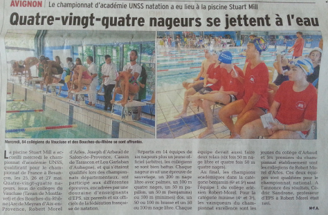 article vaucluse matin 02_05_16 acad natation