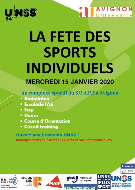 affiche fete sports individuels lycées