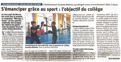 Article presse Avignon 20 12 19_AS Boxe MAthieu